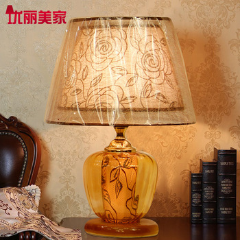 TUDA Table Lamps Contemporary Bedroom Bedside lamp Glass Personality Modern Minimalist Fashion Creative Pattern Decorative lamp