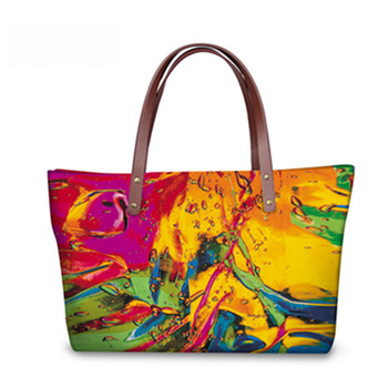 Nopersonality New Women Handbag Shoulder Bags Bright Art Graffiti Top Handle Bags Tote Bolsas Large Travel Bags