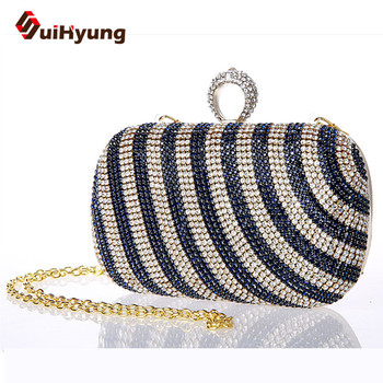 2016 New Fashion Luxury Women Diamond Evening Bags Wedding Small Clutch Purse Ring Day Clutch Female Handbags Party Shoulder Bag