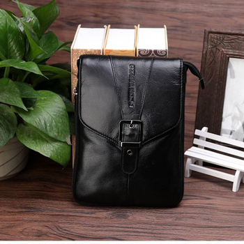 2017 New CHEER SOUL genuine leather men's purse big screen mobile phone purse, 6.3, 6.67 inch single shoulder mobile phone bag