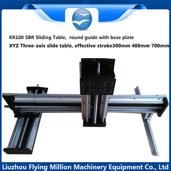 Factory direct sale KR100 cylindrical guide SBR sliding table xyz triaxial platform Group of longmen