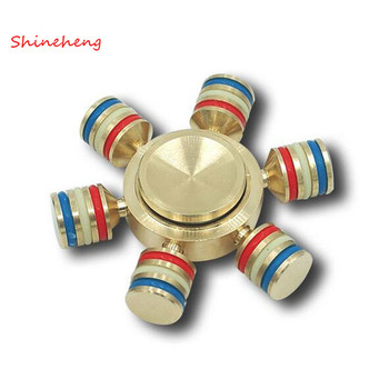 SHINEHENG Hand Spinner Brass Luminous Fidget Spinner Toy EDC Finger Spinner Anti Stress Wheel Toys Stres Spiner Song Stress Cube