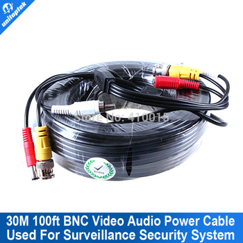 30M VIDEO & POWER & AUDIO 3 IN 1 cctv system bnc of the cable USE FOR CAMERAS