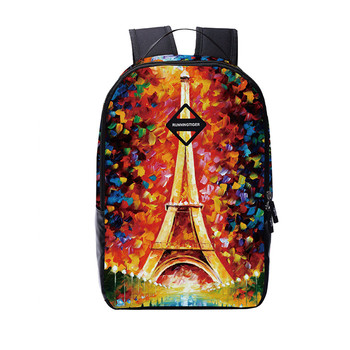 Eiffel tower female printing backpack women travel bags high school bags for girls casual shopping bag bagpack sac a dos femme
