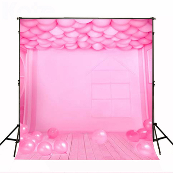 Wedding Photography Background Photo Booth Backdrops Background for Photographic Studio Balloon Fantasy Room Pink Wood Floor