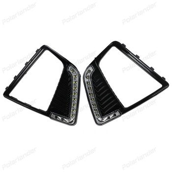 2 pcs DRL car LED lights turn signals lights accessory for H/yundai IX25-daytime running light