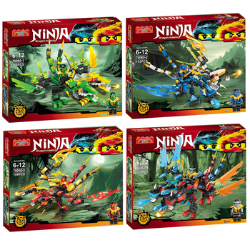YG Ninja series of double dragon Model kits anime action Building Blocks Bricks Kids fun Toys For Children gifts Lepin