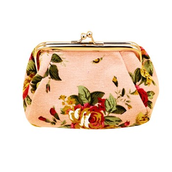 2017 New Fashion Women Retro Vintage Flower Canvas Change Money Purse Ladies Small Wallet Hasp Card Coin Purse Clutch Bag Apr27